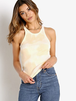 Model in swirl dye Levi's High Neck Tank