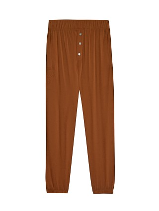 Model in cinnamon DONNI. Terry Henley Sweatpant