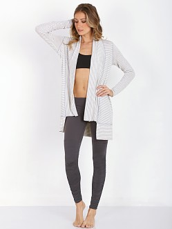 Beyond Yoga Longline Cardigan Light Heather Stripe