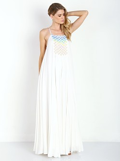 Mara Hoffman Beaded Trapexe Dress White