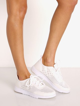 Model in white Emu Australia Miki Sneaker