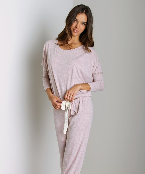 Eberjey Heather Slouchy Tee Pink Clay