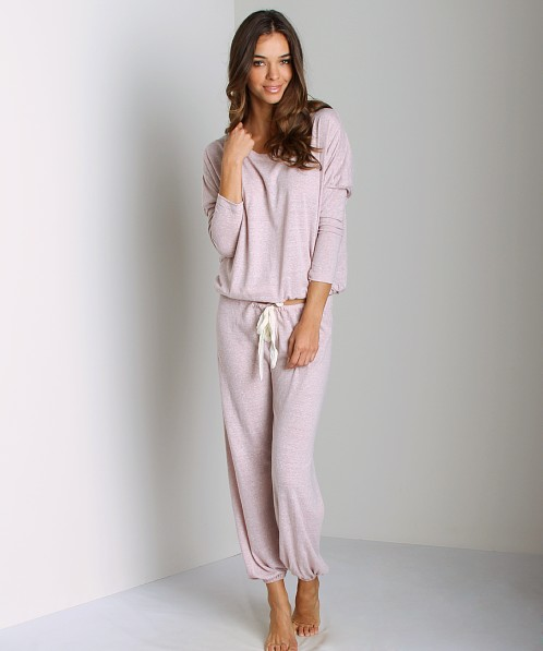 Eberjey Heather Pant Pink Clay