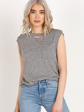 n: Philanthropy Serge-Pocket Tank Heather Grey