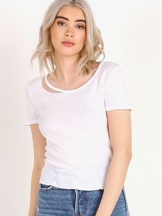 n: Philanthropy Clayten-Crop Tee White