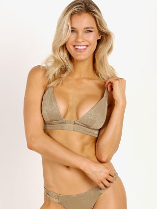 Vitamin A Neutra Bralette Bronze Metallic