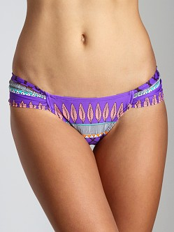 Mara Hoffman Frida Ruched Side Bikini Bottom Violet