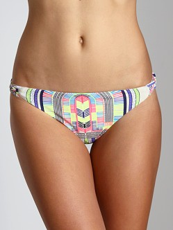 Mara Hoffman Electric Casino Basket Weave Bikini Bottom Stone
