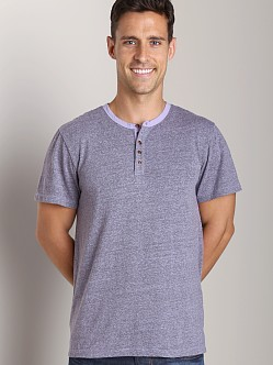 Joe's Jeans Colby Short Sleeve Henley Ultra Violet