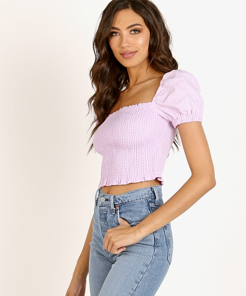 ASTR the Label Mason Top Lavendar