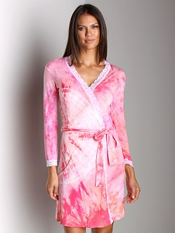 Love Tanjane Short Robe With Lace Coral Splash