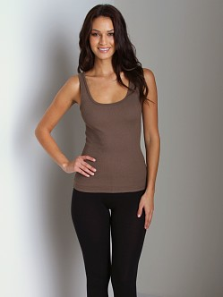 Three Dots 2x1 Cotton Tank Willow Leaf
