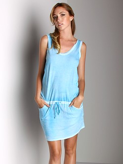 Three Dots Tank Dress Coastal Blue