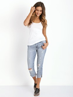 Three Dots Light Weight Long Fitted Tank White