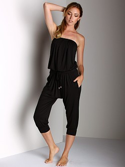 Three Dots Bandeau Jumpsuit Black