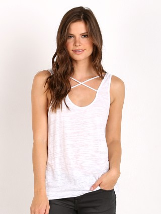 LNA Clothing Cross Strap Tank White