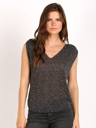 LNA Clothing Lag Tank Heather Black