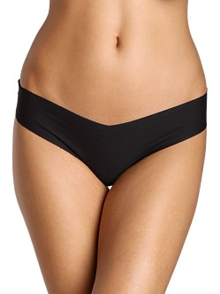 Commando Cotton Thong Black