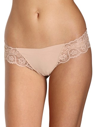 Commando Tulip Lace Thong True Nude