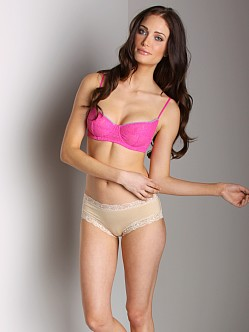 Free People Underwire Lace Bra Candy Pink