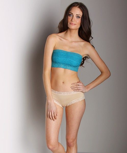 Free People Lace Bandeau Deep Teal