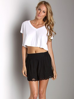 Free People V-Neck Crop Top White