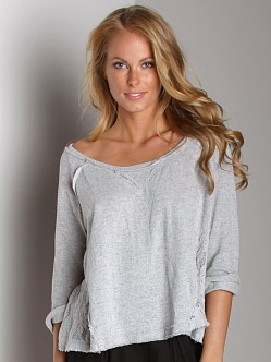 Free People Pullover Crop Frenchie Heather Grey