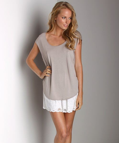 Free People Cutout Top Cement