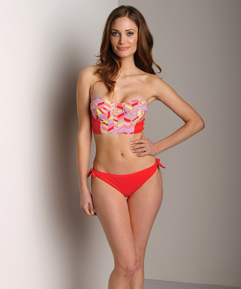 Zinke Starboard Bikini Top Red Chevron