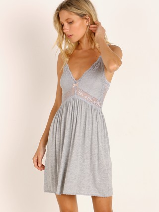 Model in heather grey Eberjey Colette Mademoiselle Chemise