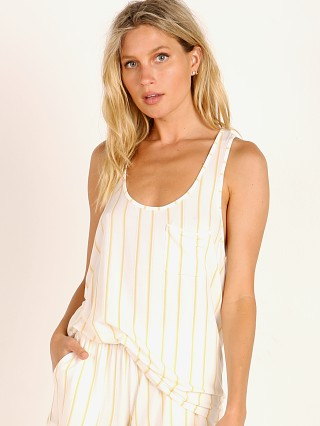 Eberjey Summer Stripes PJ Tank Multi Ochre
