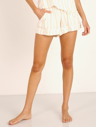 Eberjey Summer Stripes Boyfriend Short Multi Ochre