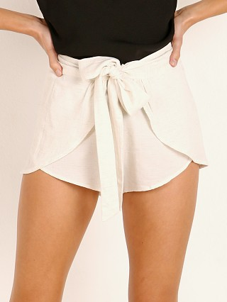 Indah Palm Solid Tie Front Wrap Short Natural
