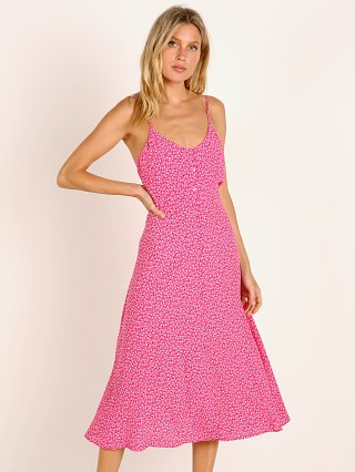 Rollas Midsummer's Midi Tulip Dress Hot Pink