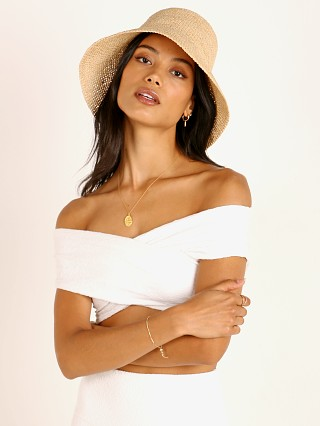 Janessa Leone Felix Packable Bucket Hat Natural