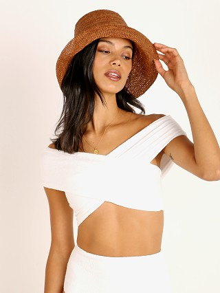 Janessa Leone Felix Packable Bucket Hat Chestnut