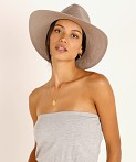 Janessa Leone Cooper Packable Hat Grey, view 1