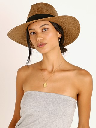 Janessa Leone Corbin Packable Hat Brown