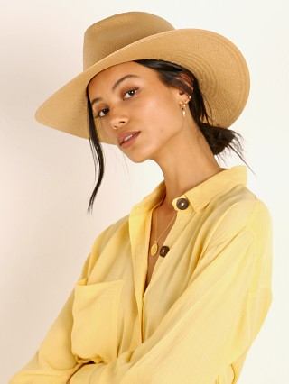 Janessa Leone Arlo Packable Hat Sand