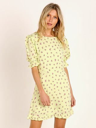 Faithfull the Brand Florence Mini Dress Luda Lime Floral