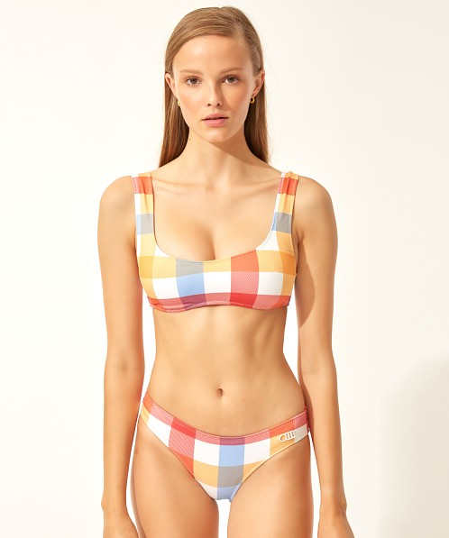 Solid & Striped Elle Bikini Bottom Tropical Gingham