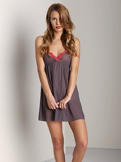 Only Hearts Tulle with Lace Racer Back Chemise Zinc/Sienna