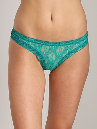 Only Hearts Stretch Lace Thong Emerald