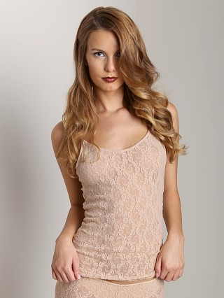 Only Hearts Stretch Lace Low Back Camisole Nude