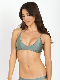 Amuse Society Billie Bralette Bikini Top Faded Army