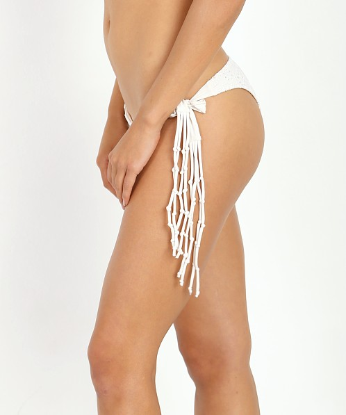 Amuse Society Tangier Eyelet Cheeky Bikini Bottom Casa Blanca