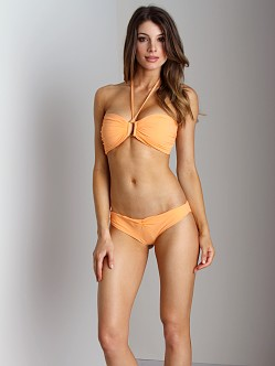 Boys + Arrows Olivia The Outlaw Bikini Top Tangerine