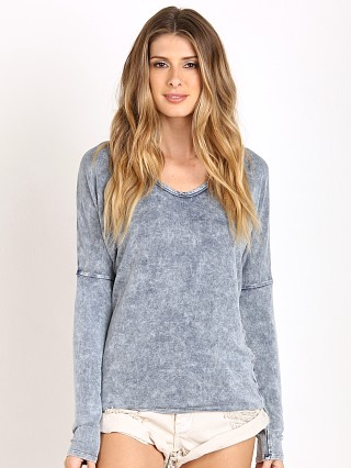 Bella Dahl Long Sleeve Drop Shoulder V Neck Mineral Wash