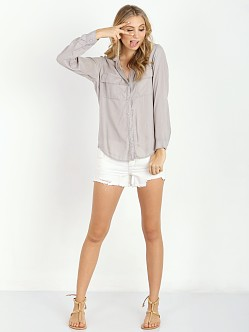 Bella Dahl Patch Pocket Button Down Chateau Grey