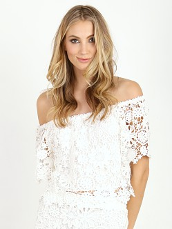Nightcap Carribean Crochet Crop Blouse White